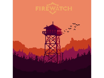 my favourite games in pixelart #1 illustraion pink firewatch gamedesign games pixelart pixel graphicdesign