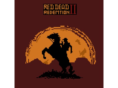 my favourite games in pixelart #2 8bitart 8bit game art reddeadredemtion red games pixelart pixel illustration graphicdesign