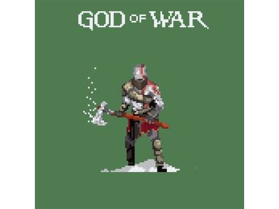 my favourite games in pixelart #4 character green godofwar game art 8bit pixelart pixel games illustration graphicdesign