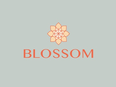 blossom typography logo logotype color blossom flower store flowershop flower logo branding design vector illustration graphicdesign
