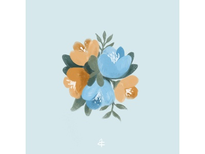 flower draw digital painting digitalart photoshop minimalistic flowers flower art illustration