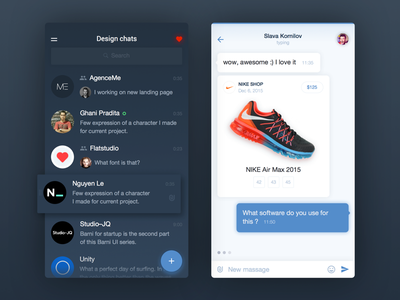 Design chat for iPhone creators app ios application message dialog chat msg companies ui ux friends