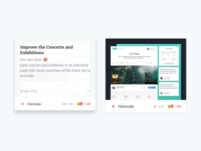 Dribbble blocks for Flatun 2.0