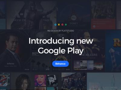 Google Play Redesign  app store app material design material flat ux ui redesign google play google