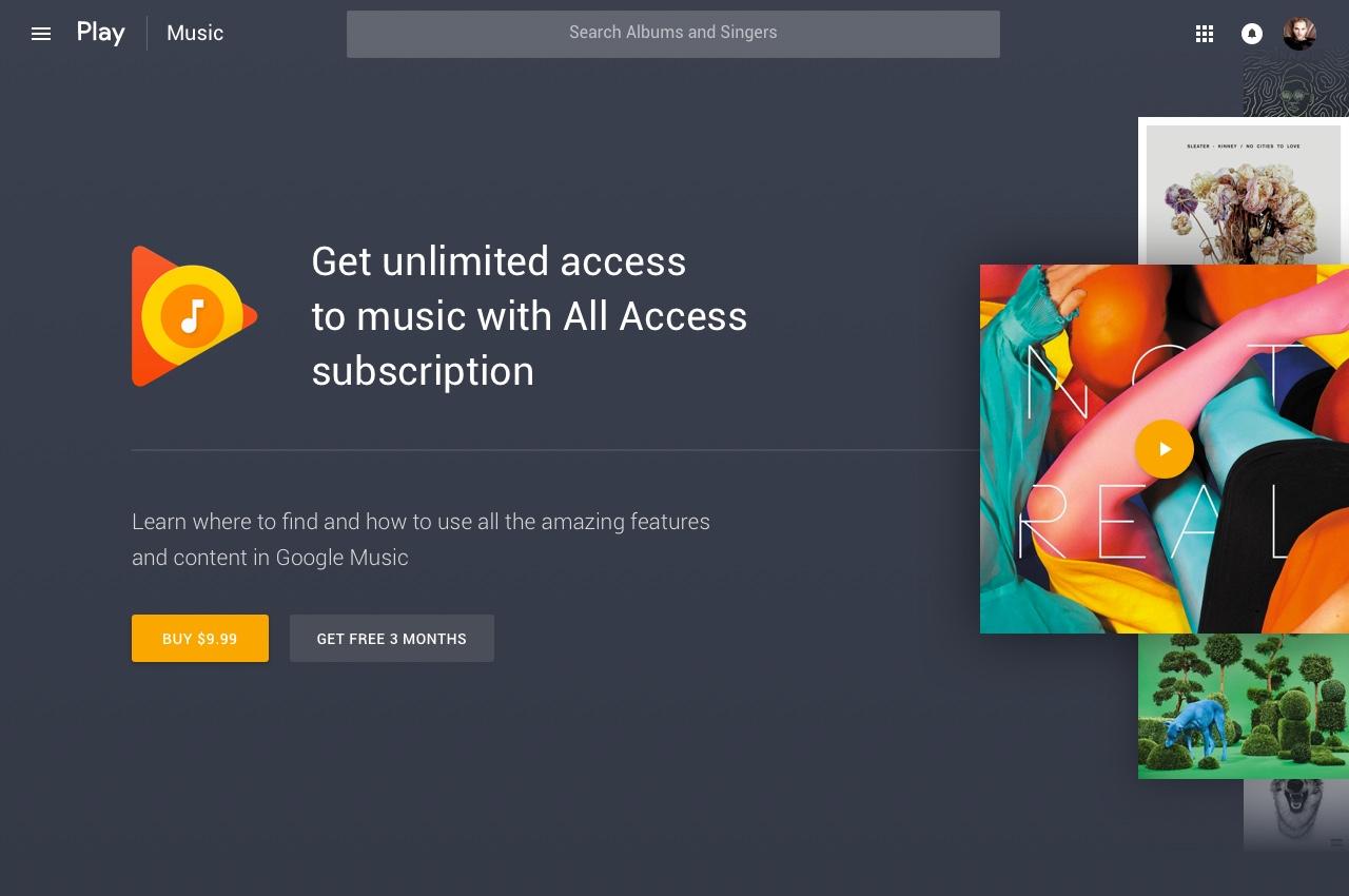 Buy google music