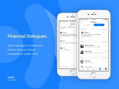 Inside app - Dialogues