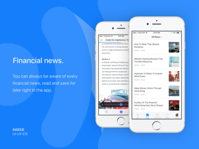 Inside app - Financial news