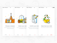 Foodberry - Welcome Screens