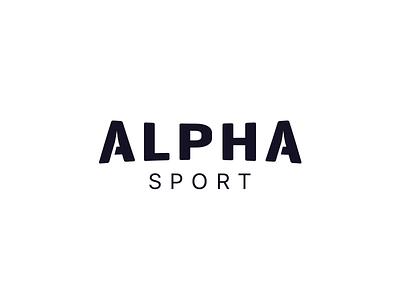 Branding: Alpha Sport redesign ui branding logo sport alpha sport alpha