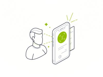 NovoBanco: Face ID illustration