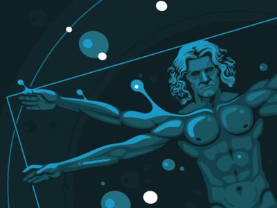 Illustrations: Vitruvian Man redesigned