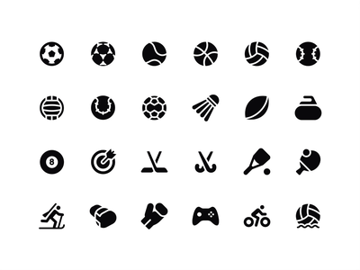 Basic Sports: Popular sports icons sport icons hockey e-games icon pack basketball tennis football popular sports icons basic icons
