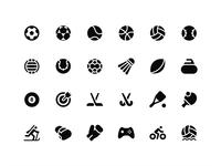 Basic Sports: Popular sports icons