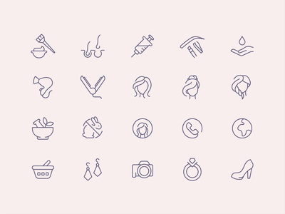 Tender Icons: Beauty cosmetic icons no avatar icons icons pack beauty website beauty care salon makeup artist makeup line icons icons cosmetics beauty