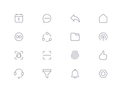 Tender Icons: Interface Vol. 1 icons pack app icons touch id product icons ios 13 icons line icons tender icons interface