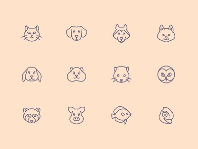 Tender Icons: Pets flatstudio icons iconfinder icons pack dog icon cat icon pets icons pets icons set icons