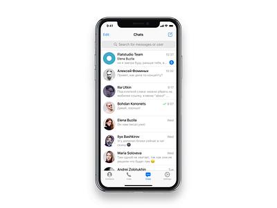 Telegram iOS: Outgoing Call flatstudio call ui telegram ui voice interface animation interaction design messager outgoing call outgoing call telegram ios