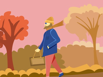 man walking flat minimal web illustration vector design flat design flat illustration walking