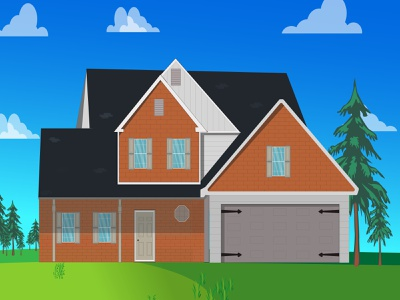 big modern house modern house vector illustration illustration flat illustration flat