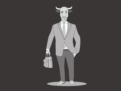 businessbull businessman vector minimal black suit characterdesign vector illustration girl illustration flat design illustration flat illustration