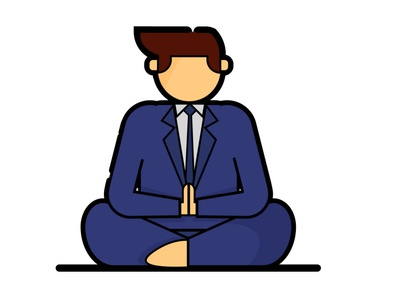 meditation icon suit icon meditation meditate characterdesign vector illustration minimal vector flat design illustration flat illustration