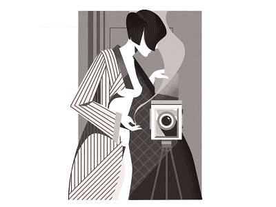 MarianneBreslauer art deco photography woman character illustrator minimalist texture illustration vector