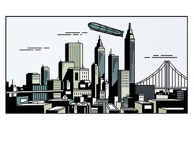 NYC skyline cityscape design city architecture illustrator minimalist texture illustration vector