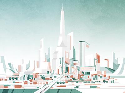 Pastel City architecture design cityscape futurism minimalist illustrator city texture illustration vector