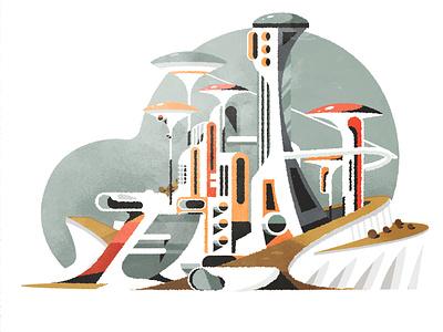 Bubbly City cityscape design skyline architecture city illustrator minimalist texture illustration vector