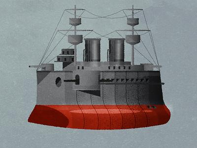Pre-dreadnought cuties texture illustrator vector illustration design art minimalist cute chibi design ships boats