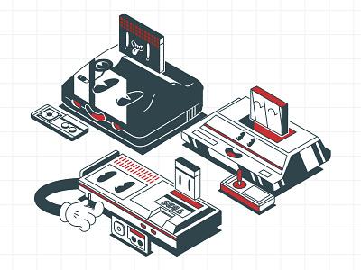 Fleischer master systems animation cartoon fleischer illustrator minimalist texture illustration vector