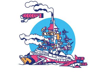 Fallout Fanart logo design city illustrator minimalist texture illustration vector