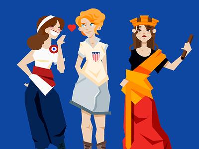 World's fair personification women girls cute national personifications worlds fair