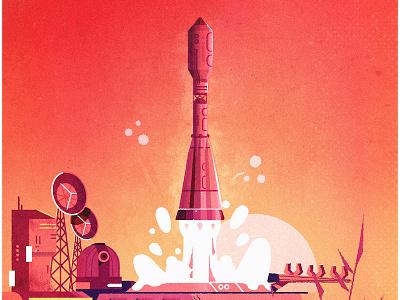 Soyuz awaaaaay!! texture vector space soviet russia rocket soyuz