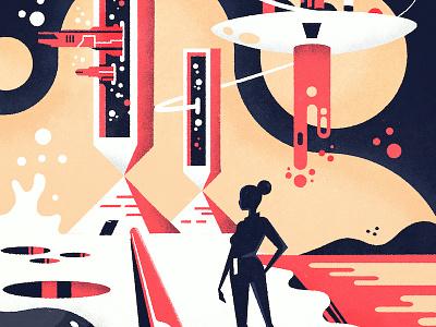 Science Fiction texture vector illustration science fiction