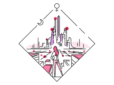 The future is yours, take it! cityscape skyline city day womens international woman vector architecture