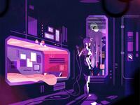 Cyberpunk dwelling