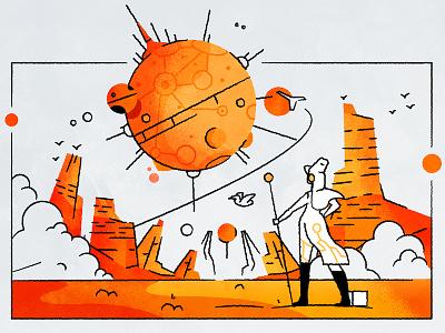 Doone stroke outline movie comic fanart moebius dune texture vector