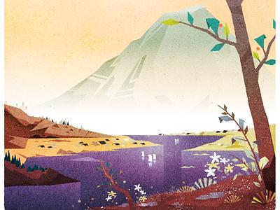 Fujisan japan fuji minimalist design texture illustration vector