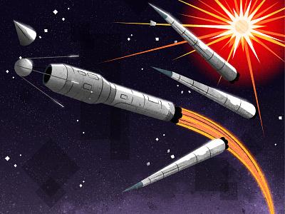 Sputnik design illustrator minimalist texture illustration vector soviet russian sputnik rocket
