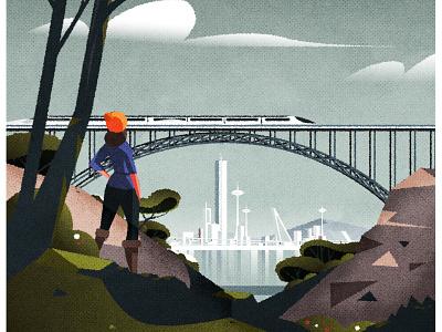 Hike cityscape design skyline illustrator architecture city minimalist texture illustration vector