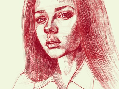 Digital portrait of a girl sketch drawing a portrait pencil drawing graphic portrait illustration portraits portrait portrait illustration portrait art graphic design digital portrait