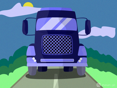 Cool truck illustration travel cool nature vector illustration truck art truck art graphic design illustrator vector minimal illustration flat design