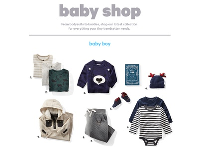 The Baby Shop retail design product photography