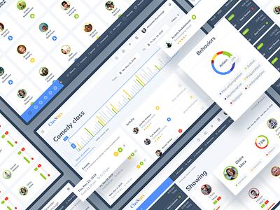 UI for Dashboard of Education Platform dribbble app ux ui stats statistics profile platform minimal learning languages landing interface education design data dashboard chart account app