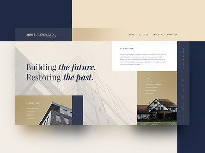 The concept of main screen for mrbbuilders.co.nz