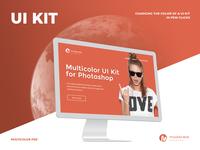 Moderate - Multicolor UI-Kit PSD
