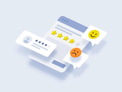 Feedback Illustration feedback review emoji smile