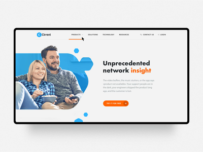 Product pages for Cirrent project typography ux design web invite interaction main screen blue web design ui