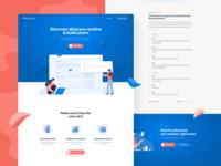 Skinshare.io landing page UI design